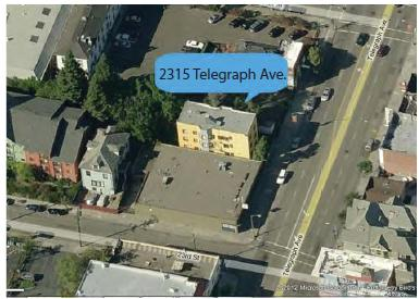 2315 Telegraph Ave - Aerial View