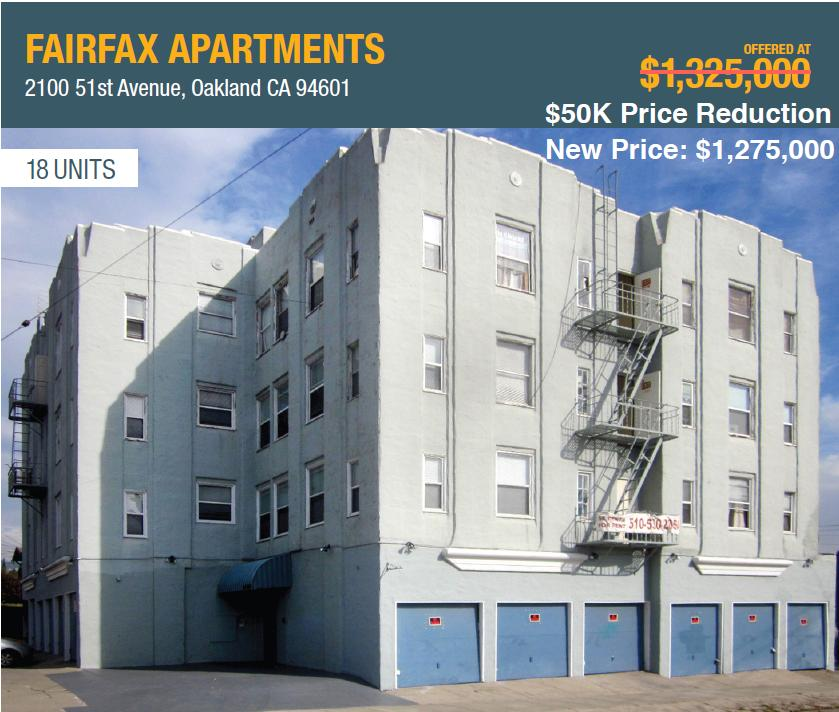 SOLD – Fairfax Apartments, Oakland
